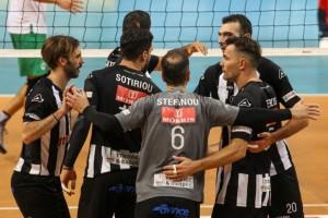 Volley League: Νίκη με ανατροπή για τον ΠΑΟΚ -  3-2 τον Παναθηναϊκό