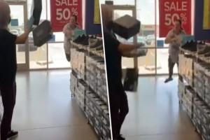 56χρονη γυναίκα άρχισε να πετάει κουτιά παπουτσιών σε υπάλληλο - Ο λόγος θα σας αφήσει άφωνους