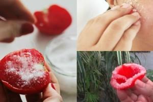 Έκοψε μια ντομάτα στη μέση τη βούτηξε σε ζάχαρη και την έτριψε στο πρόσωπο της - Το αποτέλεσμα είναι απλά θεαματικό