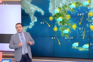 «Μετά τη φονική κακοκαιρία η εβδομάδα ξεκινά...» - Η πρόγνωση του Κλέαρχου Μαρουσάκη για την εξέλιξη του καιρού (Video)