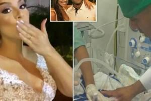 Έγκυος πέθανε λίγα λεπτά πριν το γάμο - Η σπαρακτική εικόνα του γαμπρού με το μωρό