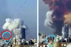 Έκρηξη στη Βηρυτό: Ύποπτο αντικείμενο κινείται με μεγάλη ταχύτητα δευτερόλεπτα πριν την έκρηξη στο λιμάνι (Video)