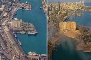 Έκρηξη Βηρυτό: Χάθηκε ολόκληρο κομμάτι γης - Τα συγκλονιστικά βίντεο και εικόνες της τραγωδίας