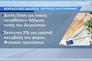 Φορολογικές δηλώσεις: Τι ισχύει με τις εκπτώσεις, τις πληρωμές και τα πρόστιμα (Video)