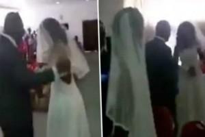 Ο γάμος της χρονιάς: Η νύφη πλησιάζει το γαμπρό και... Η συνέχεια ξεπερνά κάθε φαντασία