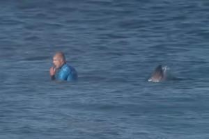 Καρχαρίας εμφανίζεται πίσω από ανυποψίαστο σέρφερ σε ζωντανή μετάδοση διαγωνισμού - Η συνέχεια θα σας καθηλώσει