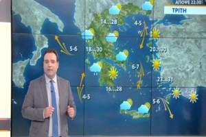 """""""Αρκετή ψύχρα! Στους 8 βαθμούς η θερμοκρασία στην... """": Πρόγνωση του καιρού από τον Κλέαρχο Μαρουσάκη!"""