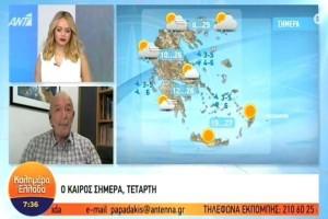 «Η ψύχρα θα χτυπήσει την χώρα αλλά…» - Πρόγνωση του καιρού από τον Τάσο Αρνιακό