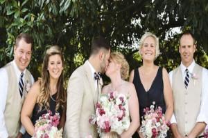 Η φωτογράφος  ζήτησε από το γαμπρό να φιλήσει τη νύφη - Τότε το παρανυφάκι έκανε το απίστευτο