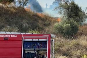Μεγάλη φωτιά στο Ηράκλειο Κρήτης
