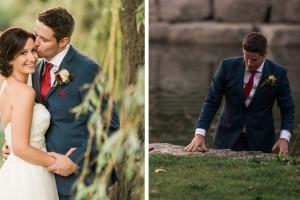 Γαμπρός παρατάει τη φωτογράφιση και βουτάει στη λίμνη - Όταν η νύφη καταλαβαίνει το λόγο μένει άφωνη