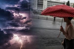 Καιρός: Άστατος με βροχές και καταιγίδες - Πού θα «χτυπήσει» η κακοκαιρία