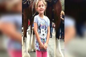 Έβγαλε μια φωτογραφία την κόρη του μπροστά από ένα άλογο - Μόλις τη δείτε ολόκληρη θα πάθετε σοκ