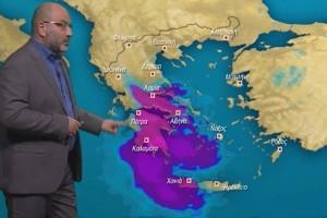"""""""Παρέλαση βροχοπτώσεων και ένα βαρομετρικό χαμηλό... μαμούθ"""" - Ο Σάκης Αρναούτογλου προειδοποιεί"""
