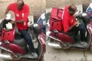 Ντελιβεράς απολύθηκε γιατί έτρωγε τις παραγγελίες (video)
