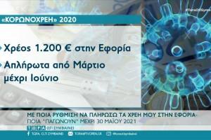 Ρύθμιση οφειλών: Πώς θα πληρώσετε στην εφορία - Ποιες «παγώνουν» μέχρι 31 Μαΐου 2021 (Video)