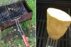 Κόβει μια πατάτα στη μέση και τρίβει την σχάρα - Ο λόγος δεν είναι αυτός που φαντάζεστε!