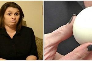 Δάγκωσε ένα βραστό αυγό και παραλίγο να της σπάσει το δόντι - Μόλις είδε τι είχε μέσα δεν πίστευε στα μάτια της (photo)