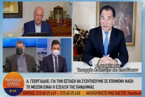 """Γεωργιάδης: """"Κλιμακωτά το άνοιγμα των καταστημάτων"""" - """"Χρήση μάσκας παντού"""""""