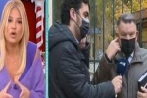 """Φαίη Σκορδά: """"Πλακώθηκε"""" on air με τον Κούγια για τον Νότη - Σηκώθηκε κι έφυγε - ΧΑΜΟΣ! (ΒΙΝΤΕΟ)"""