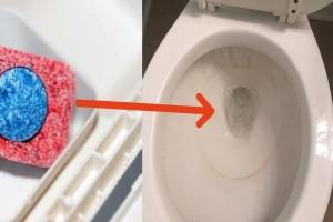 Παίρνει μια ταμπλέτα για το πλυντήριο και την ρίχνει στην τουαλέτα - Μόλις δείτε το αποτέλεσμα, θα το κάνετε και εσείς!