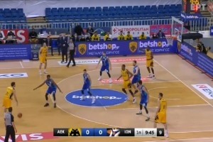 Basket League: Βγήκε ζωντανή η ΑΕΚ κόντρα στον Ιωνικό (Video)