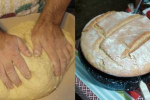 Φτιάξτε χωριάτικο ζυμωτό ψωμί με προζύμι και κάντε όλο το σπίτι να μοσχομυρίσει ελληνική παράδοση