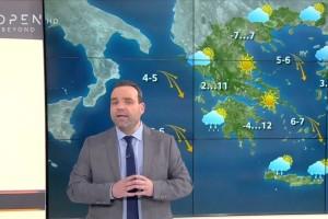"""""""Χιονόνερο ή χιόνια στα..."""": Ο Κλέαρχος Μαρουσάκης προειδοποιεί!"""