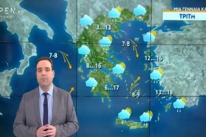 «Χιόνια δίπλα στη θάλασσα!» - Προειδοποίηση Κλέαρχου Μαρουσάκη (Video)