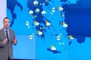 Κλέαρχος Μαρουσάκης: «Μεγάλη προσοχή! Έρχονται τρία κύματα κακοκαιρίας, το ένα πιο ισχυρό από το άλλο» (Video)