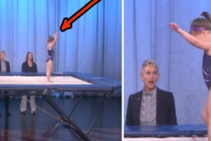 Πήρε τη θέση της στο τραμπολίνο και ξεκίνησε το show. Μετά από λίγο, οι κριτές είχαν μείνει με το στόμα ανοιχτό!