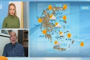 """""""Από την Κυριακή αναμένεται να έρθει νέα ψυχρή εισβολή στην Ελλάδα"""" - Καμπανάκι από τον Τάσο Αρνιακό"""