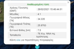 Ισχυρός σεισμός στη Κρήτη