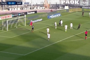 Super League: Ο ΠΑΟΚ διέλυσε με 4αρα τη Λαμία (Video)