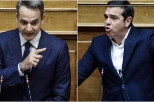 """""""Έξαλλος"""" ο Μητσοτάκης με τον Τσίπρα: """"Ρίχνετε λάσπη, κανένα μυστικό δεν με συνδέει με την Μενδώνη"""""""