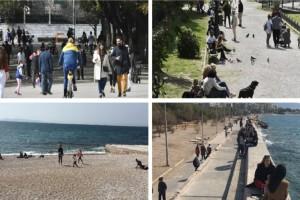 Απαγόρευση κυκλοφορίας: Άκυρο σε κυβέρνηση & λοιμωξιολόγους - Σε πάρκα και παραλίες ξεχύθηκαν οι Αθηναίοι (Video)