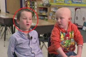 Απίστευτο: Δείτε τι έκανε ένας μαθητής πρώτης τάξης όταν έμαθε ότι ο φίλος του έχει καρκίνο! (Video)