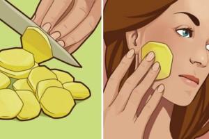 Έκοψε μια φέτα πατάτας και την έβαλε στο πρόσωπό της - Μόλις μάθετε το λόγο θα τρέξετε να το κάνετε και εσείς