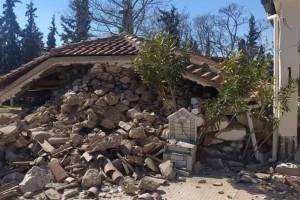 Σεισμός στην Ελασσόνα: Εκκλησία κατέρρευσε στο Μεσοχώρι - Άνδρας πήδηξε στο κενό από τον δεύτερο όροφο