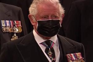 Τα δάκρυα του Καρόλου στην κηδεία του πρίγκιπα Φιλίππου (photo)