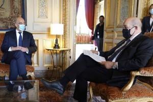 Συγχαρητήρια επιστολή του Γάλλου Υπ. Εξωτερικών στον Δένδια