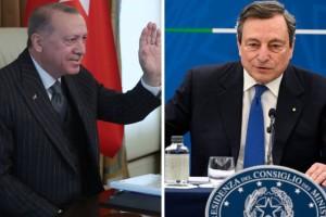 """Σε """"εμπόλεμη"""" κατάσταση Ιταλία - Τουρκία: Ο """"δικτάτορας"""" Ερντογάν και ο """"ανίκανος"""" Ντράγκι"""