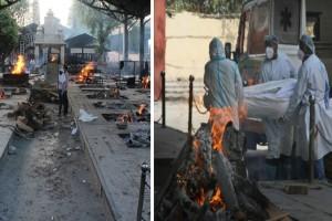 Φρίκη στην Ινδία: Καίνε νεκρούς σε κρεματόρια μέρα-νύχτα - Σαρώνει η νέα παραλλαγή του κορωνοϊού (Video)