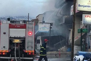 Φωτιά σε συνεργείο στην Νέα Ιωνία