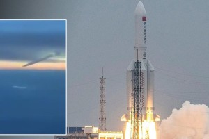 Kινεζικός πύραυλος: Η στιγμή της πτώσης στον Ινδικό Ωκεανό (Video)