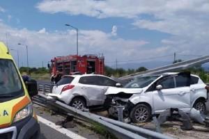Τροχαίο με τέσσερις τραυματίες κοντά στον κόμβο του Κιλελέρ