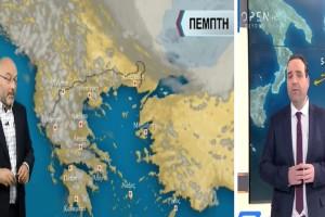 Καιρός σήμερα: Συννεφιά και τοπικές καταιγίδες - Οι πρώτες εκτιμήσεις Αρναούτογλου-Μαρουσάκη για το τριήμερο του Αγίου Πνεύματος