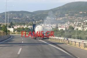 Συναγερμός στην Πάτρα για φωτιά σε βυτιοφόρο στην Περιμετρική