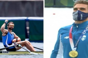 Γίγαντας: Χρυσός Ολυμπιονίκης στη κωπηλασία ο Στέφανος Ντούσκος! (videos)