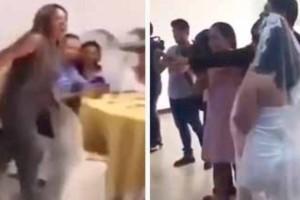 Γυναίκα εισέβαλε σε γάμο φώναξε «σε αγαπώ» στον γαμπρό μετά χαστούκισε τη νύφη